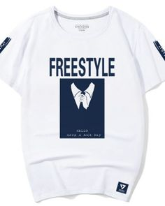 Freestyle t shirt for men tie printed white tee have a nice day