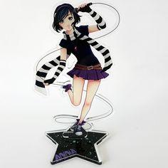Acrylic Standee of Anna Blue. Anna Blue, Emo Love, Blue Anime, Laser Cut Acrylic, Laser Cutting, Scream, Arm Warmers, Destiny, Dawn