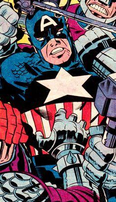 "(Captain America #196, April 1976) - Jack Kirby (pencils), D. Bruce Berry (inks) & Janice Cohen (colors) """