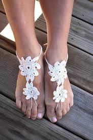 Image result for sandalias para pies descalzos en crochet