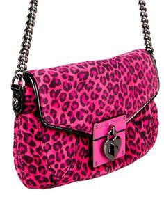 Betsey Johnson pink leopard bag<3