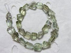 Natural Green Amethyst Faceted 8-12 MM | Amethyst Tumbled | Green Amethyst Nuggets | Green Amethyst | 10 Inch Strand | Gemstone Supplier