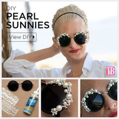 DIY Pearl Sunglasses Tutorial by Trinkets in Bloom #thursDIY #crafthappy