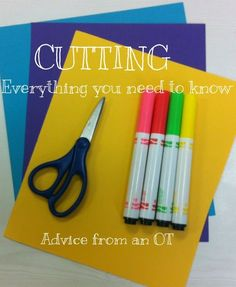 Awesome info about cutting...Advice from an OT with pictures! MUST READ for all TEACHERS! Really great advice!