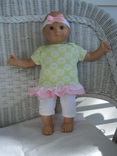 Hey, I found this really awesome Etsy listing at https://www.etsy.com/listing/215516979/bitty-baby-girl-cute-3-pc-soft-green-and