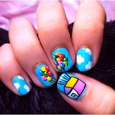 Up nails! #disney #pixar #cutenails