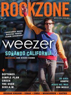 Revista #RockZone 124. Weezer, soñando California. Entrevistas: Deftones, Crisix, Simple Plan, The Used, Obsidian Kingdom, Moonsorrow, Sixx:A.M., Cobra, Kaotiko, Conan…
