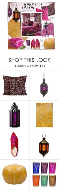 """Moroccan Decor"" by kiki-bi ❤ liked on Polyvore featuring interior, interiors, interior design, home, home decor, interior decorating, See by Chloé, Christian Louboutin and moroccandecor"