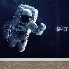 Fotobehang Astronaut in de ruimte. Beleef avonturen als astronaut op de maan! Op ruimte expeditie vanuit je eigen kamer. Bestellen? YouPri.nl