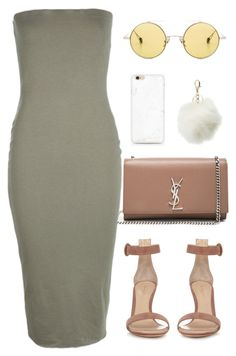 """:::"" by camgueyana ❤ liked on Polyvore featuring Ahlem, Yves Saint Laurent, Boohoo, Gianvito Rossi and Charlotte Russe"
