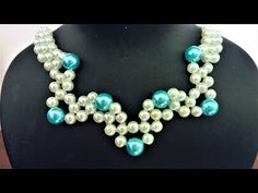 Easy and elegant DIY necklace. How to make a necklace with pearl beads. - YouTube