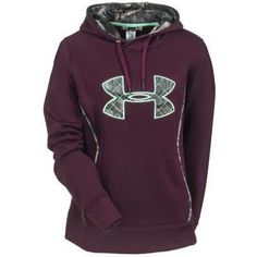 Under Armour Sweatshirts: Women's Cinnabar Burgundy 1247106 600 Hooded Sweatshirt