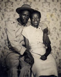 A portrait of two sweethearts, 1940s