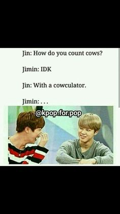 The journey with BTS (Dutch/Nederlands) - Extra part bts memes + dad jokes - Page 2 - Wattpad Funny Love Jokes, Bts Memes Hilarious, Bts Funny Videos, Funny Things, Funny Life, Funny Stuff, Dad Humor, Life Humor, K Pop