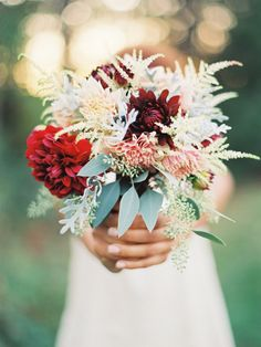 Pretty flower bouquet in an unusual, romantic display