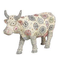 Cow Parade - Buttons & Bovine Figurine