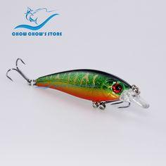 1PC, 5 colors to choose! 7.4cm 7g  Fishing Lure Artificial Bait Plastic Hard Fishing Bait Minnow with Treble Hooks pesca leurre
