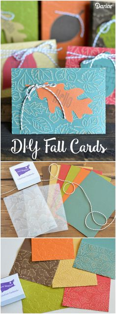 Learn how to make your pretty and colorful embossed fall cards with this step by step tutorial!
