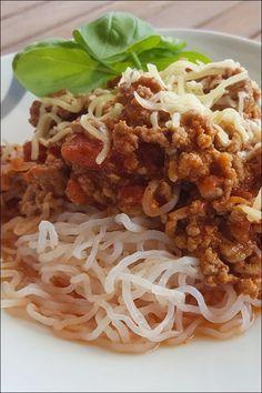 Lowcarb Spaghetti Bolognese! So kannst du mitessen!