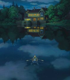 When Marnie Was There Vertical Pans - Dir Hiromasa Yonebayashi (2014)