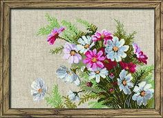 Flowers Cross Stitch Kit Bouquet Point de Croix Fleurs | eBay
