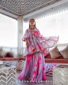 Check out these trending wedding dresses by ace Indian designers. Trending bridal wear and wedding wear for bridesmaids at ShaadiWish. Indian Gowns, Pakistani Dresses, Indian Wear, Indian Wedding Outfits, Indian Outfits, Indian Designer Outfits, Designer Dresses, Sharara Designs, Unique Bridesmaid Dresses