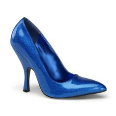 Awesome 4 1/2 Sexy Pumps Pointed Toe High Heel Shoes Glitter Shoes Blue Fushia Gold or Silver