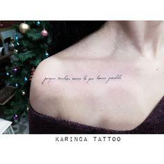 ''porque tambien somos lo que hemos perdido'' http://instagram.com/karincatattoo #collarbonetattoo #collarbone #smalltattoo #writingtattoo #minimaltattoo #minimalism #tattooideas #womantattoo #girltattoo #dövme #scripttattoo #lettertattoo
