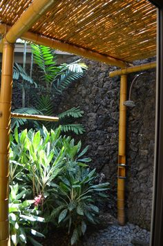 Great outdoor shower in Hawaii