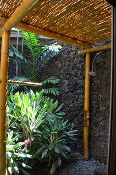 Great outdoor shower in Hawaii