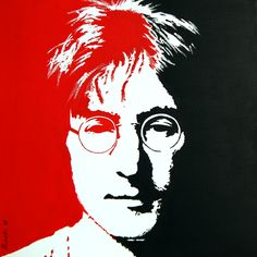 John Lennon portrait from a classic image by David Mack. Acrylic on canvas.