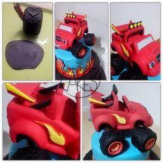 Blaze mega machine tutorial - CakesDecor