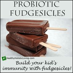Are you looking for a fun way to get your kids to take probiotics? Try making homemade probiotic fudgesicles