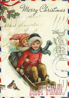 Sleigh/Children Christmas Card