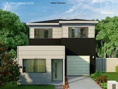 Yeoman Homes Hamilton NZ 2 storey home Rototuna. Storey Homes, Hamilton, Garage Doors, Mansions, House Styles, Building, Outdoor Decor, Home Decor, 2 Story Homes