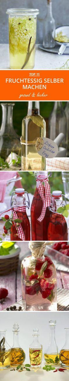 Fruchtessig selber machen: Von Himbeeressig bis Holunderessig - diese Essige sind perfekt für Sommersalate und zum Verschenken!