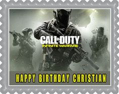 Call of Duty Infinite Warfare Edible Cake Topper & Cupcake Toppers – Edible Prints On Cake (EPoC)