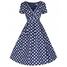 eb716edf603b  Darcy  Blue Polka Dot Party Dress