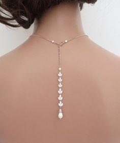Braut Halskette Back-Drop Hochzeit Halskette von treasures570