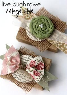 {DIY} Vintage Inspired Favors and Gift Wrap - live. laugh. rowe-tutorial