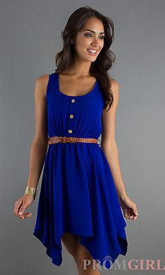 Royal blue is perfect for the 4th of July! Stand out and your celebration in this bold color! Find this dress at PromGirl.com