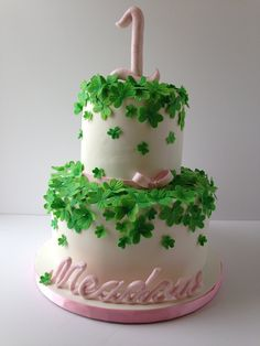 Clover First Birthday Cake on Cake Central