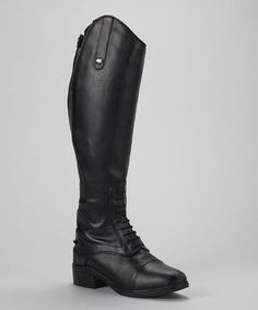 Another great find on #zulily! Black Normandy Field Equestrian Leather Boot - Women by Dublin #zulilyfinds