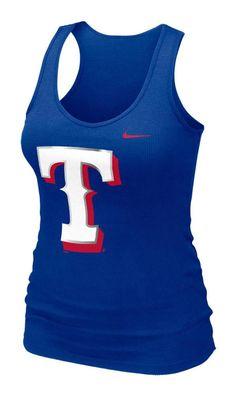 Texas (TX) Rangers Women's Royal Rib Tank by Nike $28.00