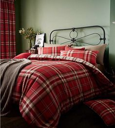 Cosy up this winter in the Kelso Duvet Cover Set, by Catherine Lansfield. The bold tartan design will look great in any room, giving a rustic look whilst also making the room feel warm and inviting.Set Includes: 1 x Duvet Cover, 2 x Pillowcase Red Duvet Cover, King Duvet Cover Sets, Double Duvet Covers, Single Duvet Cover, Duvet Sets, Quilt Cover, Bed Covers, Pleated Curtains, Cotton Duvet