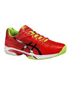 Detalles de Asics Hombre Gel Challenger 11 Cancha de Arcilla Tenis Zapatos Negro Rojo