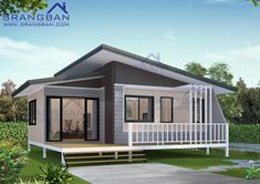 Trendy Wood House Design Dream Homes Cottages Ideas Wood House Design, Minimal House Design, Small House Design, Roof Design, Cottage Design, Modern Bungalow House, Modern Tiny House, Thai House, Model House Plan
