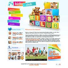 Kids club html5 website template Price - $29