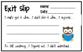 Multiple Exit Slips product from Cooperative-Learning-365 on TeachersNotebook.com