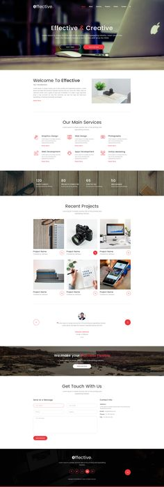 Effective is a one page Digital Company PSD template. Here PSD files are fully layered and organized with proper names, so PSD files are very easy to customize and update. PSD files are based on 1... #webdesign #uidesign